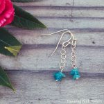 Gemstone Chip And Chain Drop Earrings
