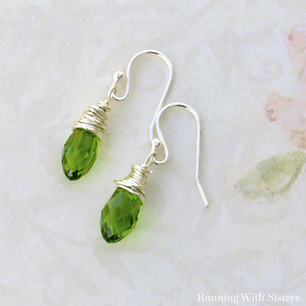 Wire Wrapped Drop Earrings