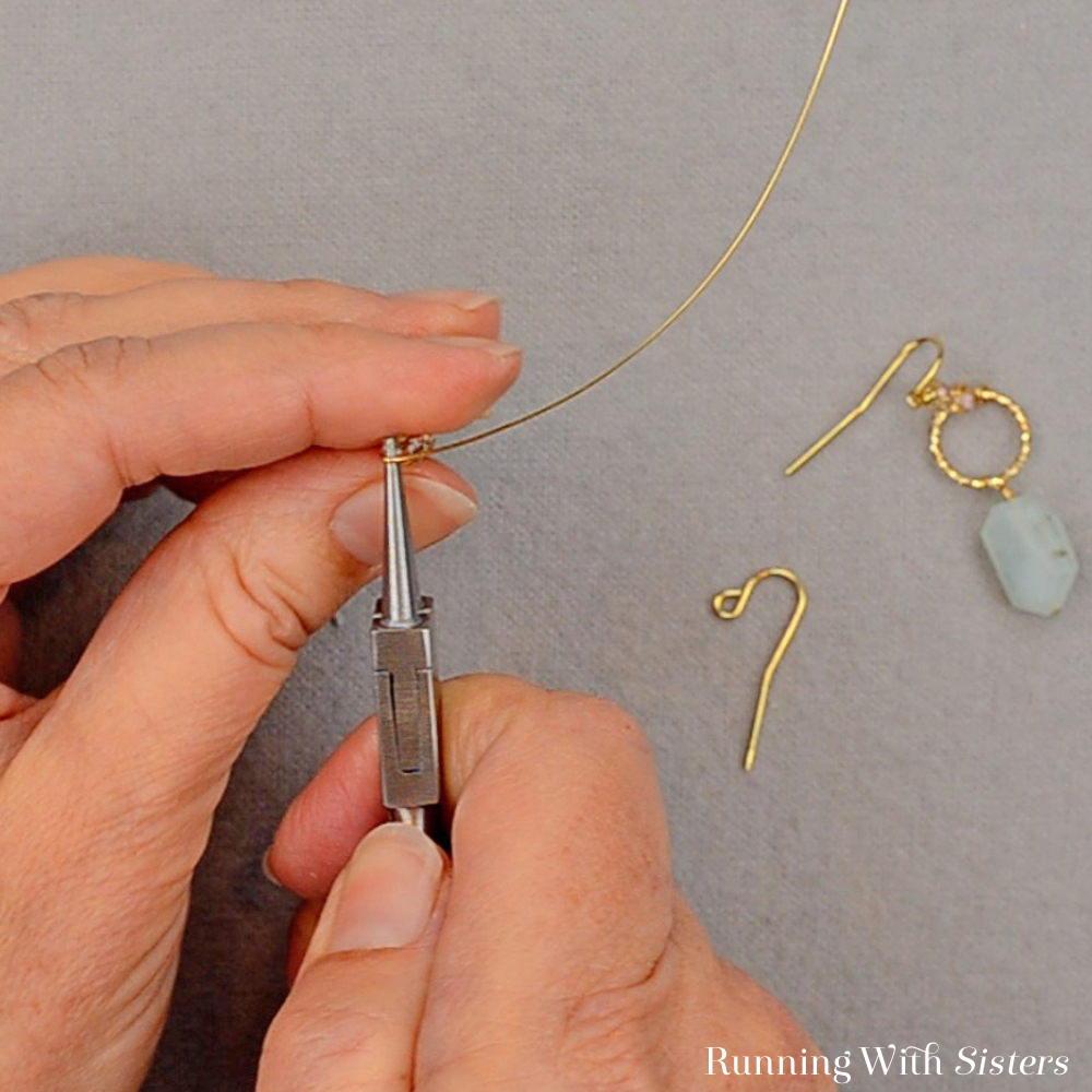 Gemstone Drop Earrings - Make A Partial Loop