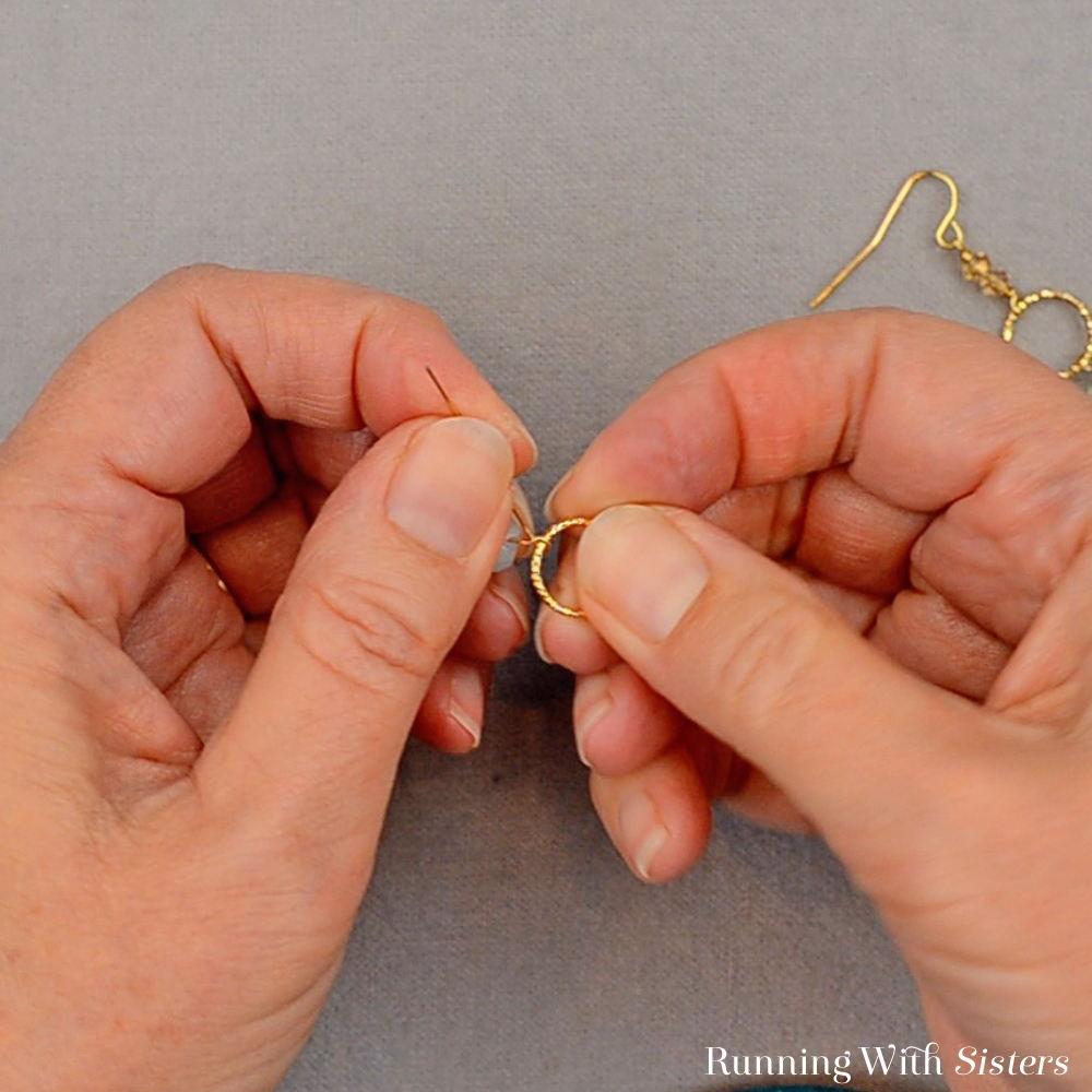 Gemstone Drop Earrings - Slide Ring Into Loop