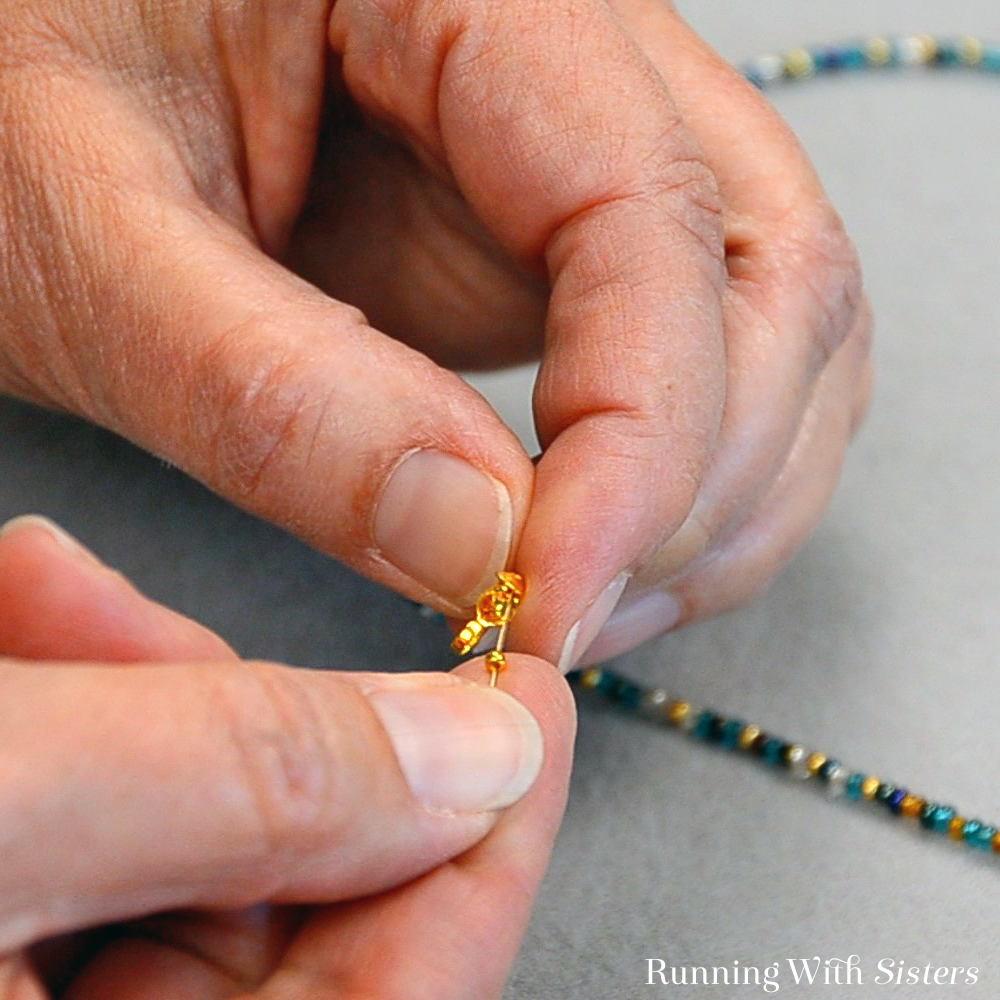 Multi Strand Necklace - Flatten Crimp Bead