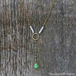 Long Teardrop Necklace Square