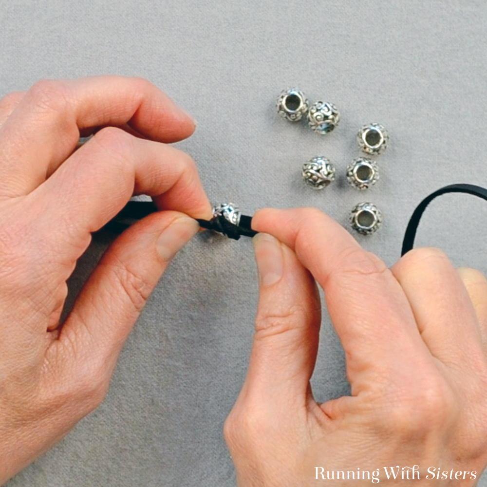 4 Boho Wrap Bracelet - Tie Knot In Single Cord
