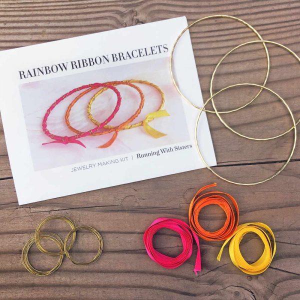 Rainbow Ribbon Bracelets Tropical Sunrise Kit