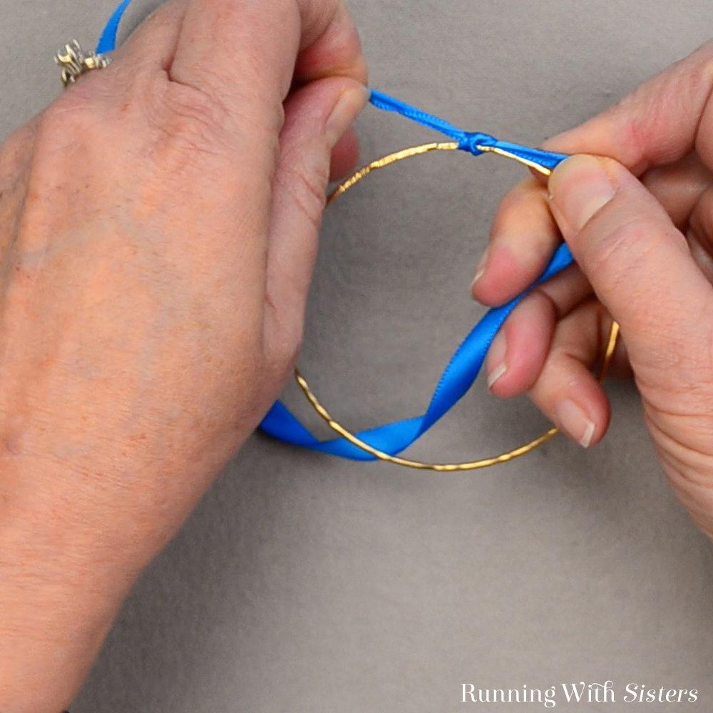 Rainbow Ribbon Bracelets - Tie Ribbon Onto Bangle With Temporary Knot