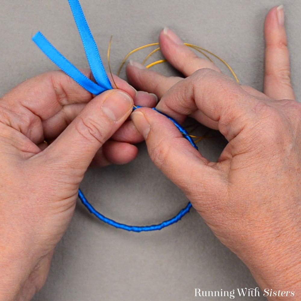 Rainbow Ribbon Bracelets - Hold Wire And Knot On Bracelet
