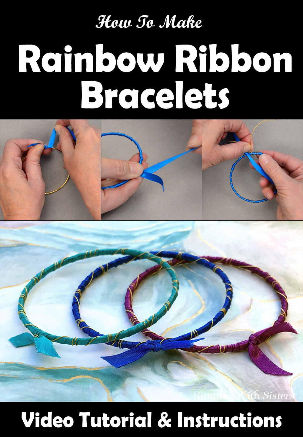 Rainbow Ribbon Bracelets Pinterest