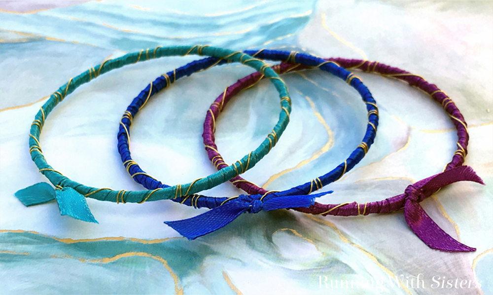 Rainbow Ribbon Wrapped Bracelets Kit Bahama Waters Beauty Shot