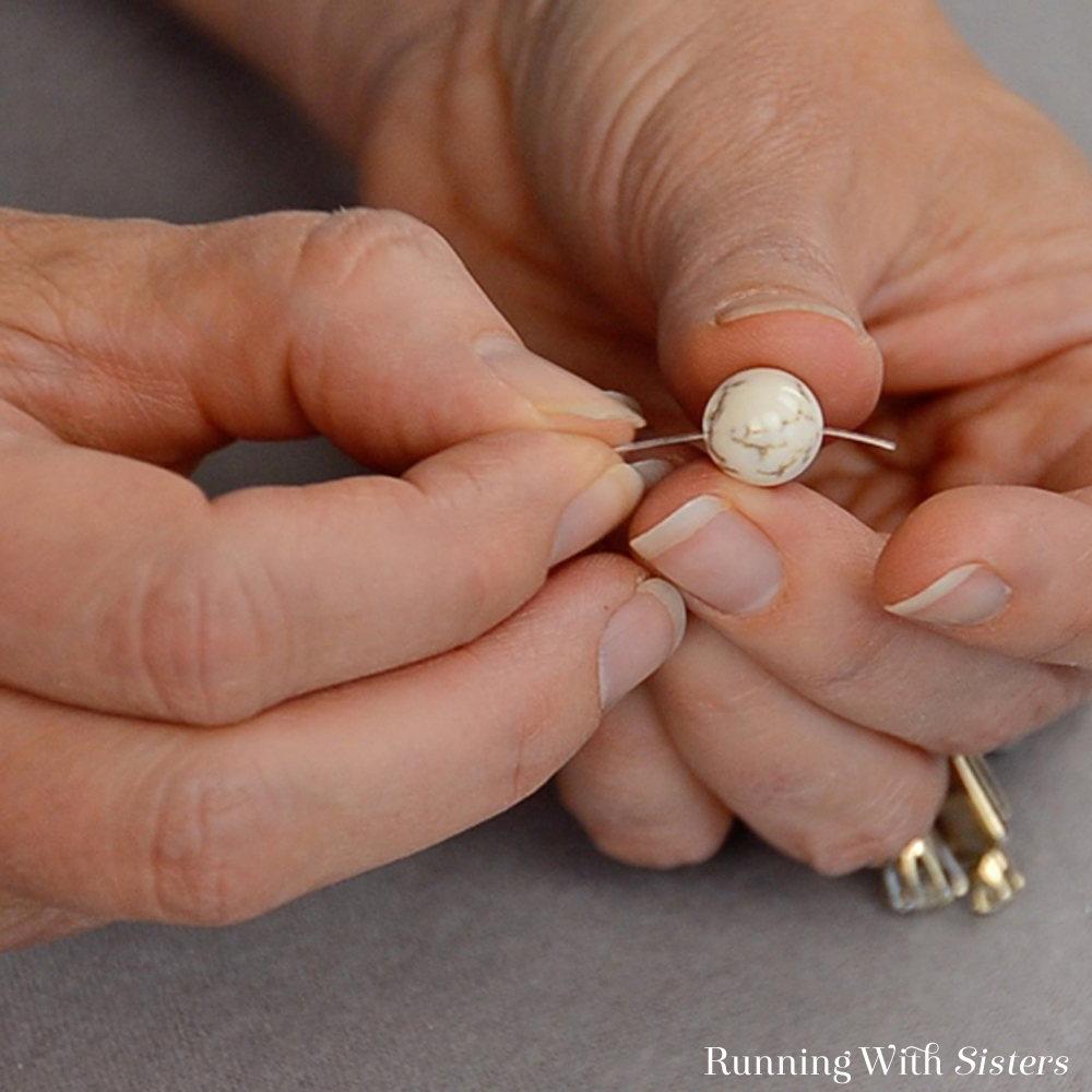Gemstone Stretch Bracelet - Feed Six Gemstones Onto Elastic Cord
