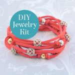 Filigree Wrap Bracelet Kit Coral DIY Jewelry Kit Badge