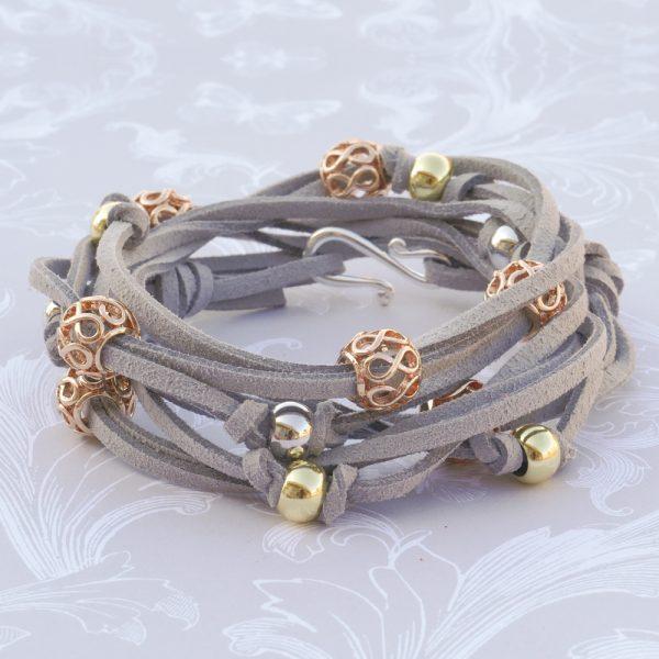 Filigree Wrap Bracelet Kit Gray Square