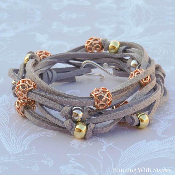 Filigree Wrap Bracelet Kit in Gray