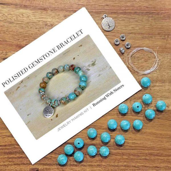 Gemstone Stretch Bracelet Jasper Materials
