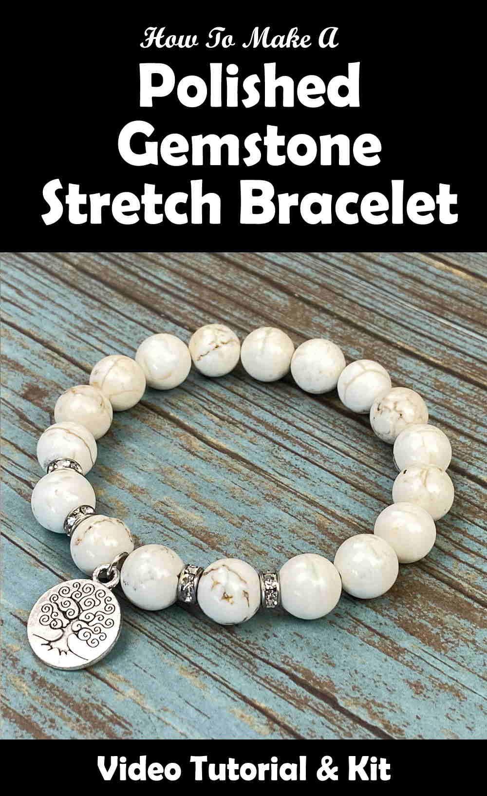 Gemstone Stretch Bracelet Pinterest
