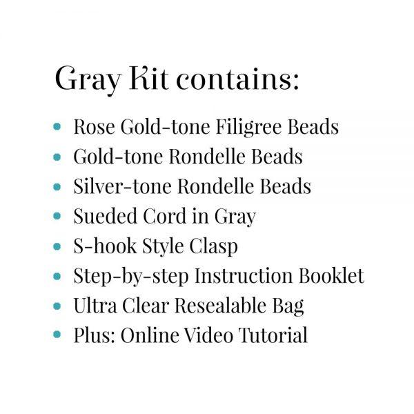 Gray Filigree Kit Contains