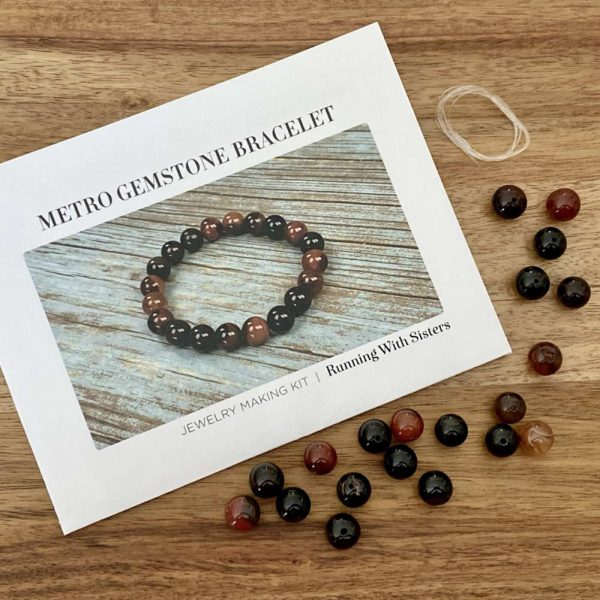 Metro Gemstone Stretch Bracelet DIY Jewelry Kit Materials