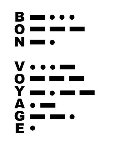 Morse Code Bon Voyage 400