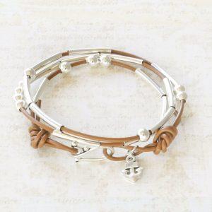 Morse Code Bracelet Kit in Camel