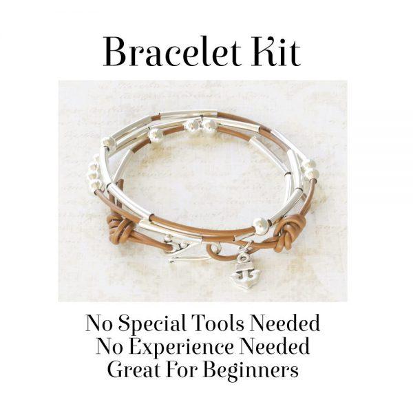 Morse Code Bracelet Kit Camel No Tools Needed