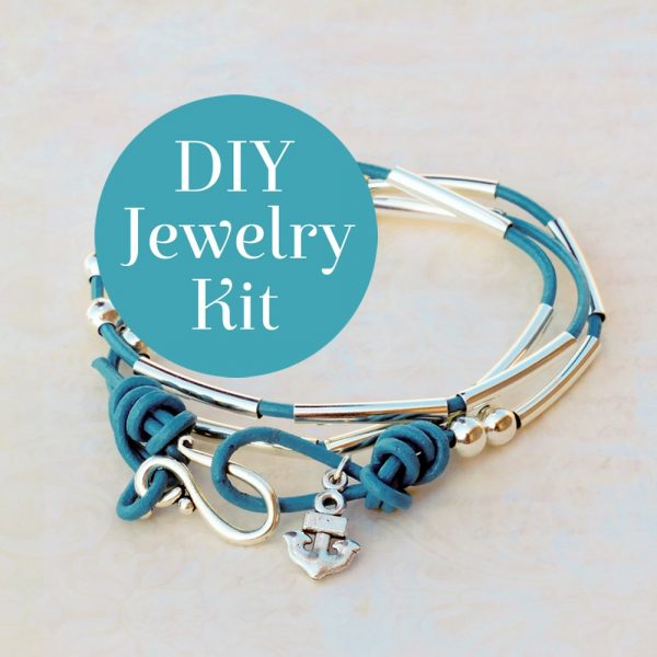 Morse Code Bracelet Kit Teal DIY Badge