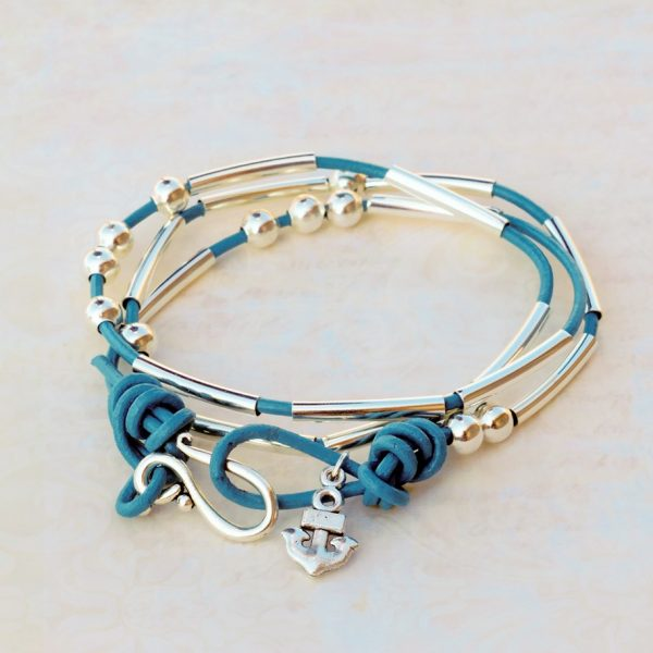Morse Code Bracelet Kit in Teal