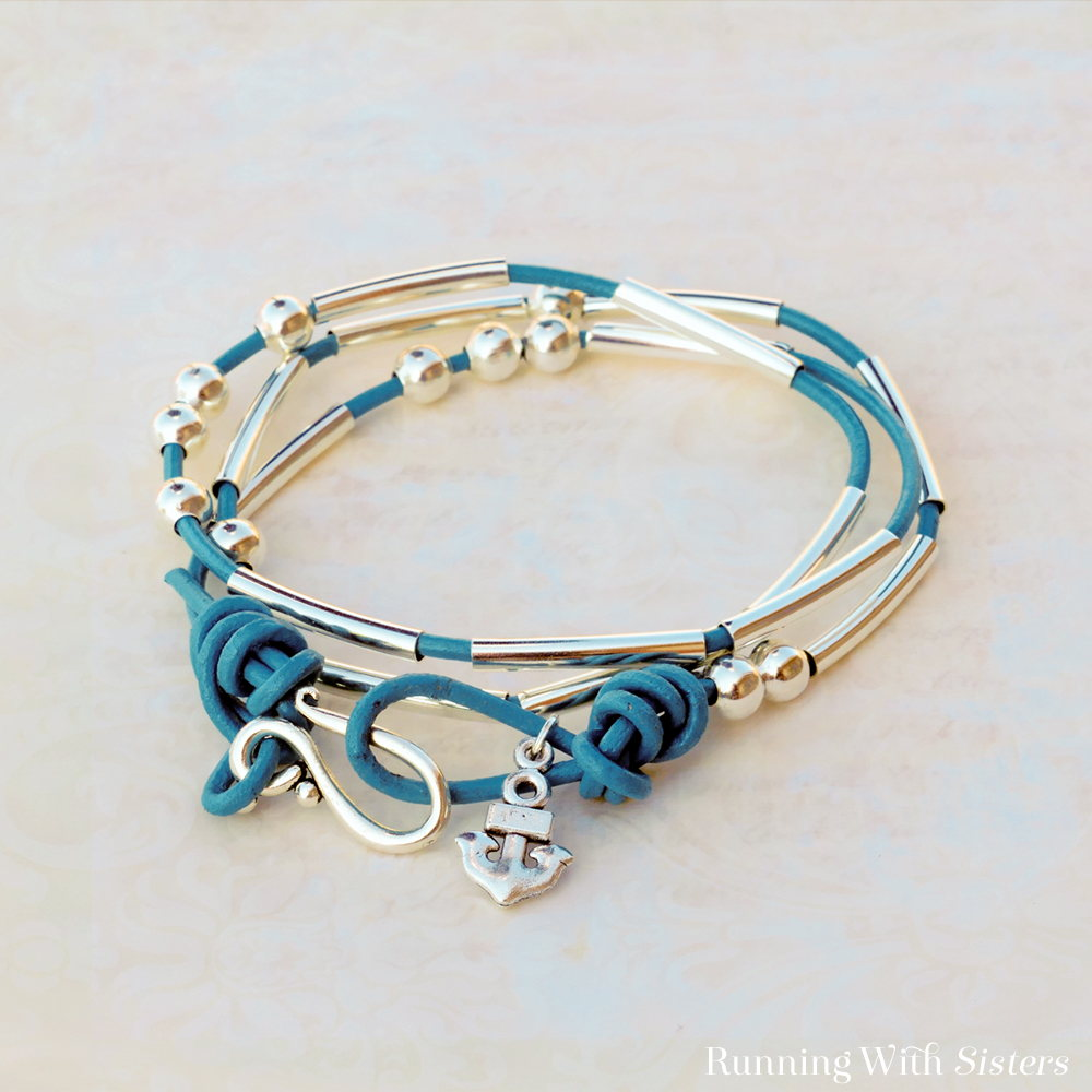 Morse Code Bracelet Kit in Teal Beauty Shot Square