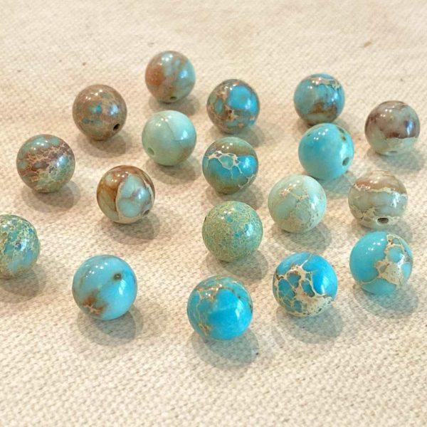 Polished Jasper Beads