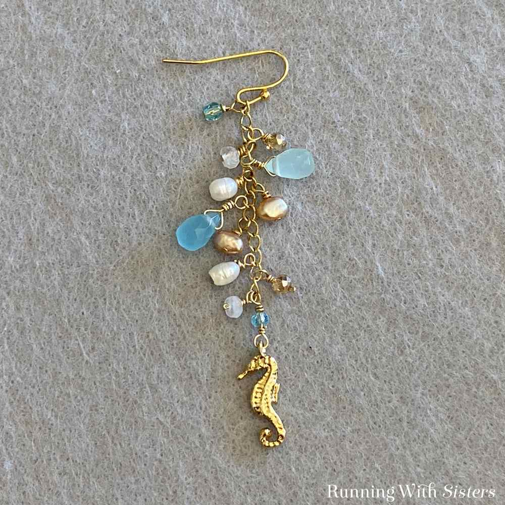 Beachy Dangle Earrings Flat