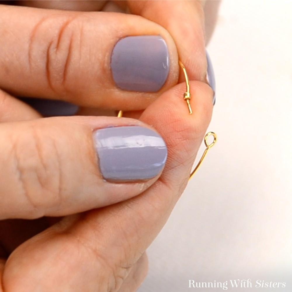 11 Color Block Beaded Hoop Earrings - Slide On Seed Beads