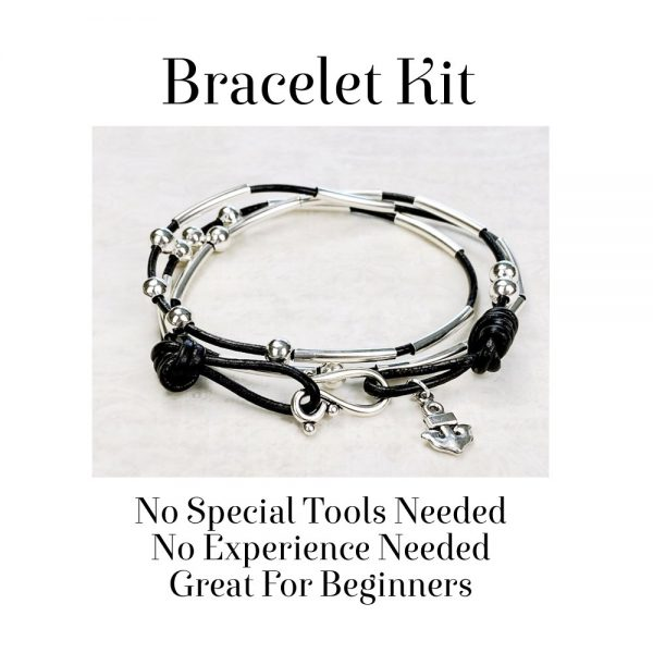 Morse Code Bracelet Kit Black No Tools Needed