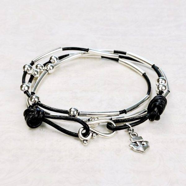 Morse Code Bracelet Kit Black Beauty Shot 2