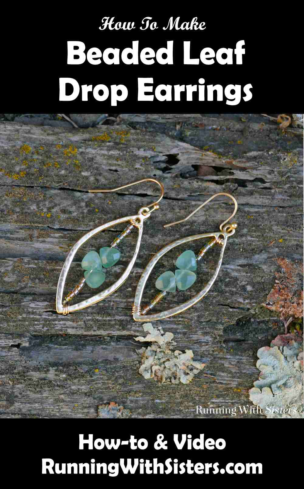 Beaded Leaf Drop Earrings Pinterest