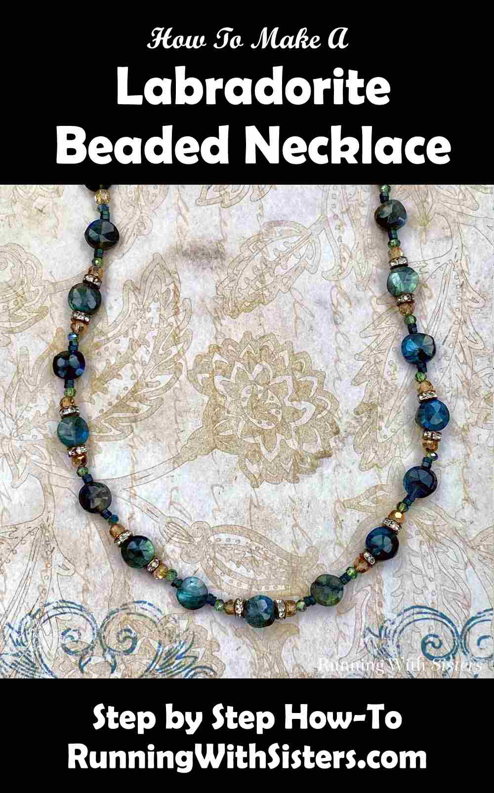 Labradorite Gemstone And Copper Beaded Necklace Pinterest