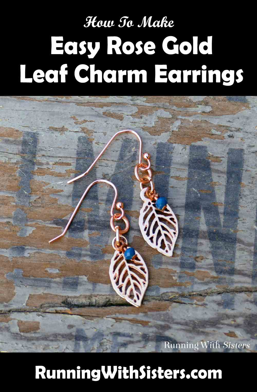 Rose Gold Leaf Charm Earrings Pinterest