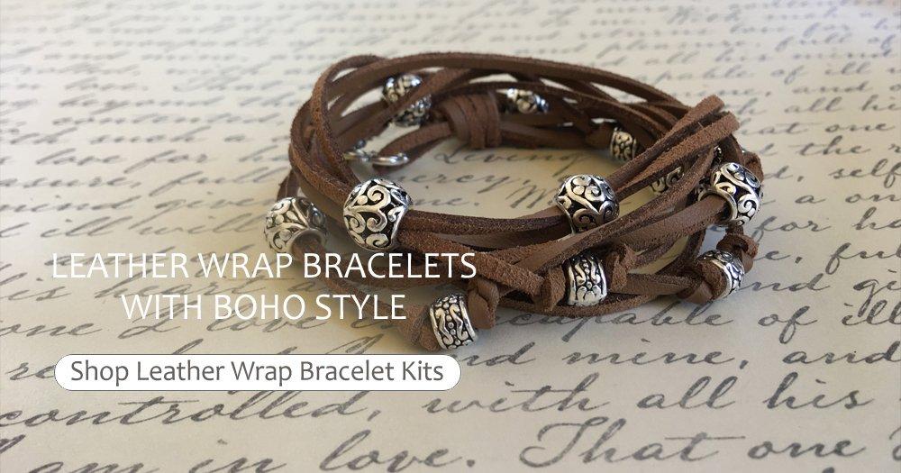 Leather Wrap Bracelets with Boho Style