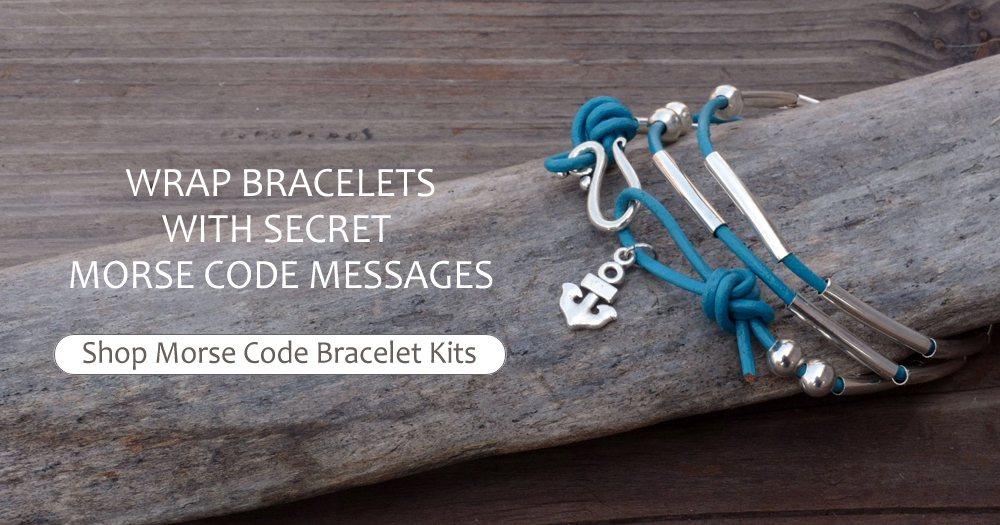 Wrap Bracelets With Secret Morse Code Messages