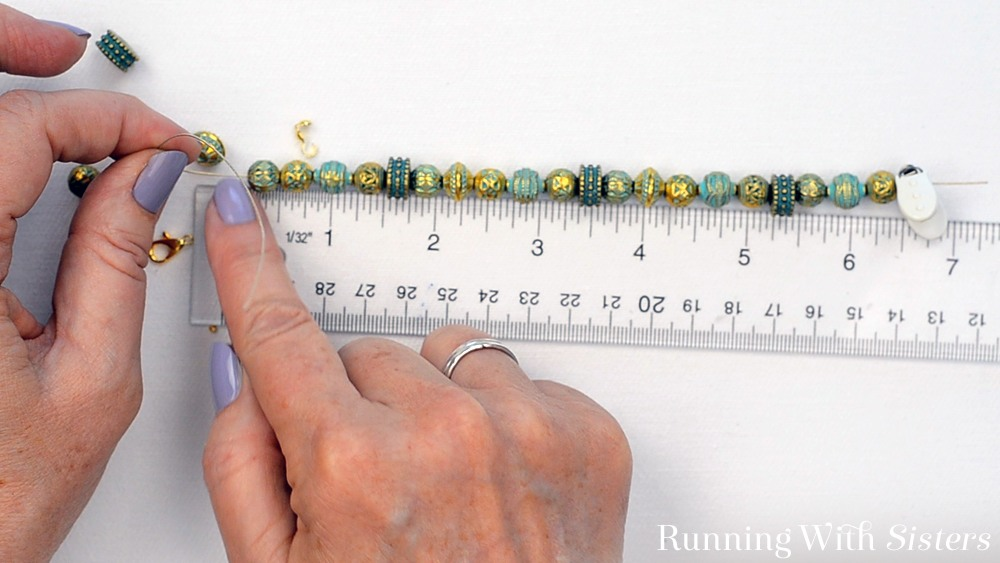 5B Turn A Bead Strand Into A Bracelet - Measure Again Including Clasp Length