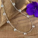 Crystal Briolette Seed Bead Necklace