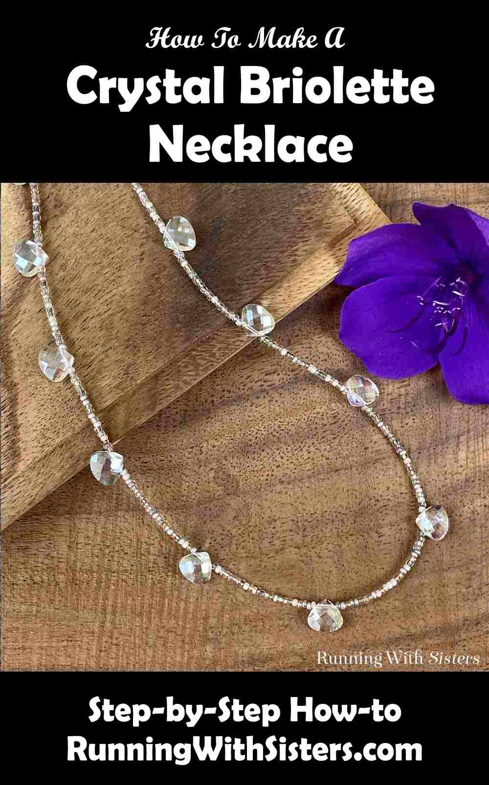 Crystal Briolette Seed Bead Necklace Pinterest