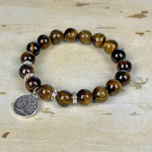 Polished Gemstone Stretch Bracelet Kit Tigers Eye