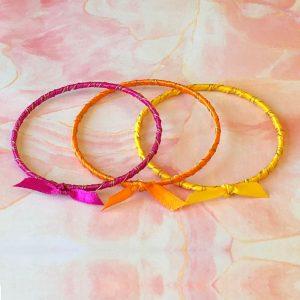 Rainbow Ribbon Bracelets Tropical Sunrise