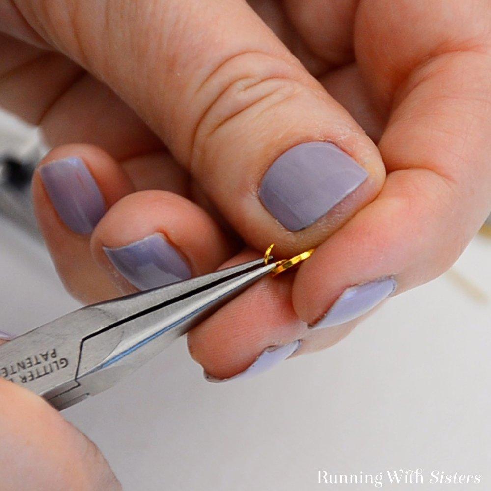 10 Druzy Drop Earrings - Slide Ring Into Open Jump Ring