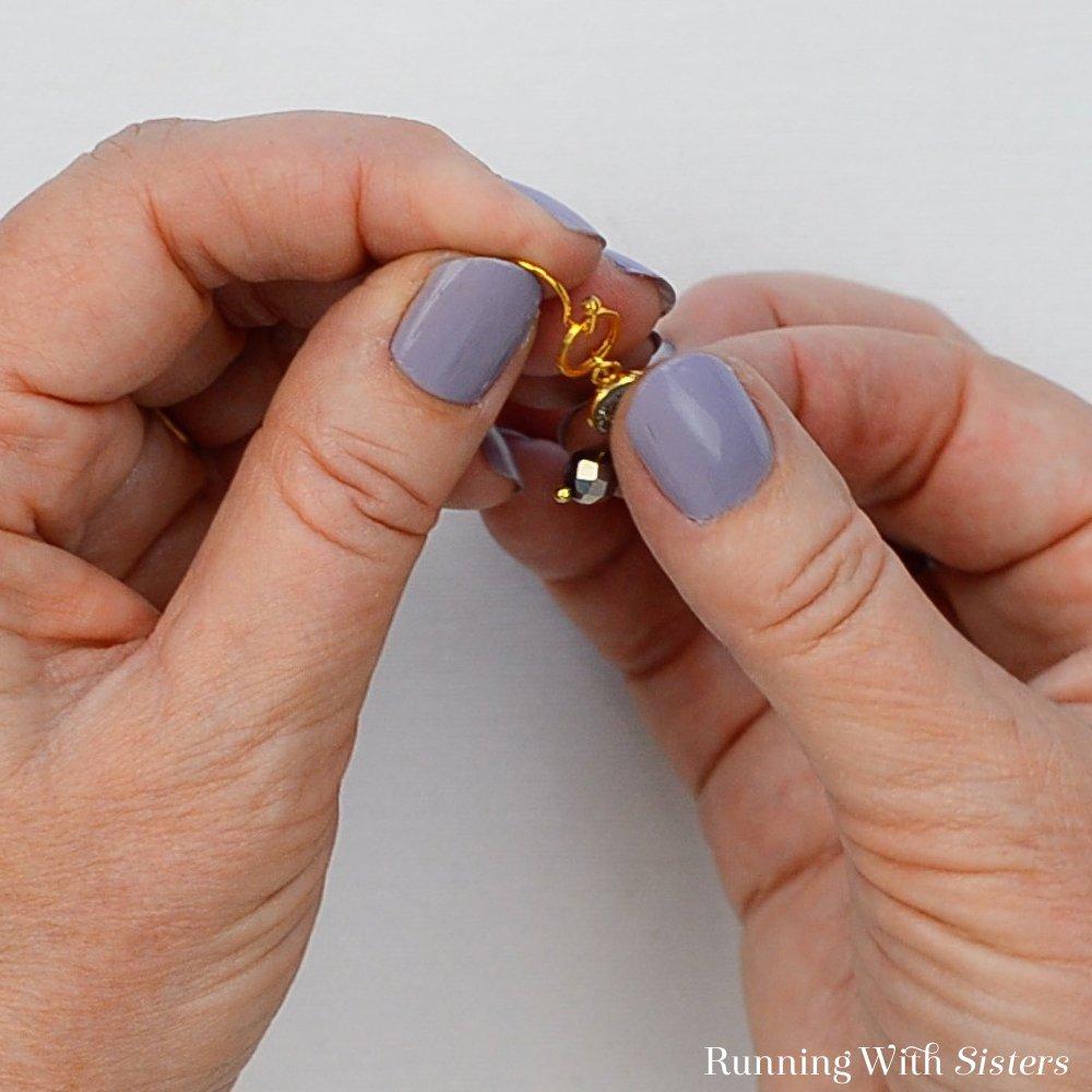 12 Druzy Drop Earrings - Slide Ring Onto Earring Wire