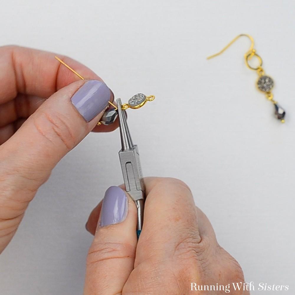 14 Druzy Drop Earrings - Repeat To Make Matching Earring