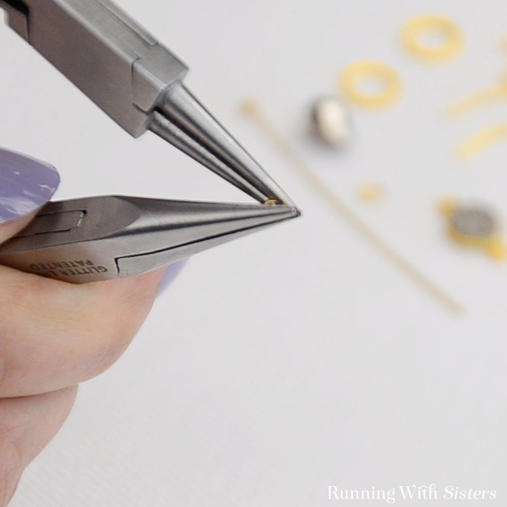 9 Druzy Drop Earrings - Open Jump Ring With 2 Pliers