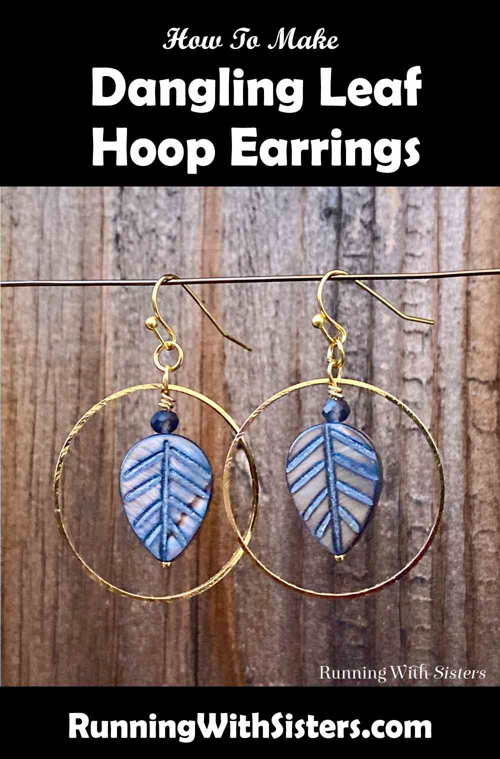 Leaf Hoop Earrings Pinterest