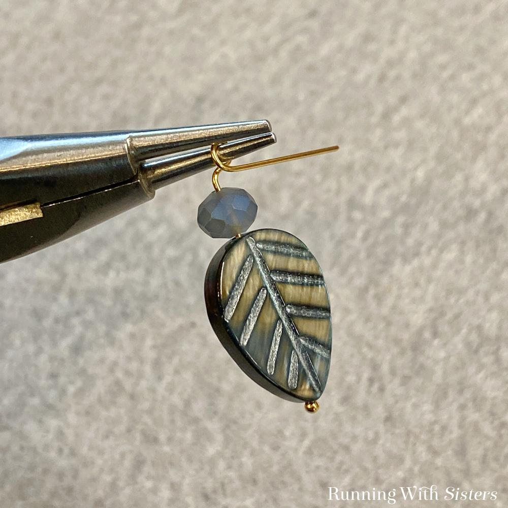 Leaf Hoop Earrings Step 2 Hands