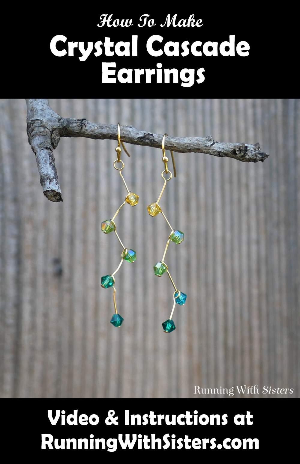 Crystal Cascade Earrings Pinterest