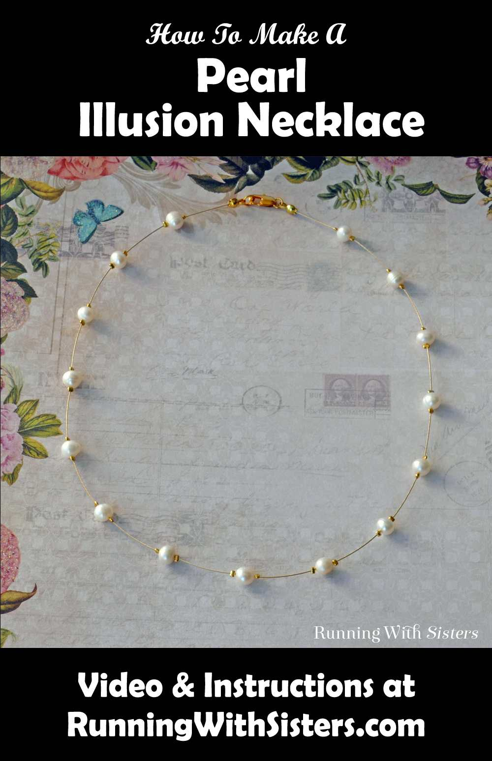 Pearl Illusion Necklace Pinterest