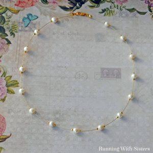 Pearl Illusion Necklace Square